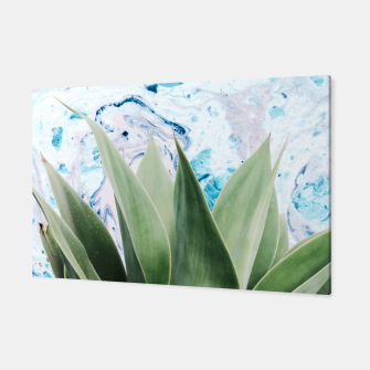 Thumbnail image of Marbled background plant Canvas, Live Heroes