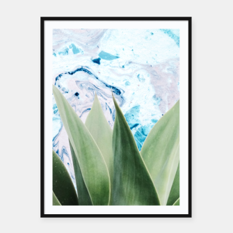 Thumbnail image of Marbled background plant Cartel con marco, Live Heroes