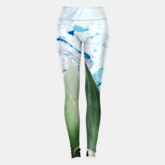 Thumbnail image of Marbled background plant Leggings, Live Heroes