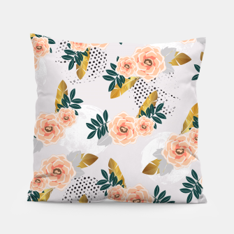 Thumbnail image of Floral pattern of roses Almohada, Live Heroes