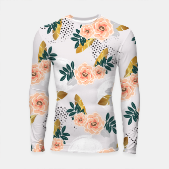 Thumbnail image of Floral pattern of roses Longsleeve Rashguard, Live Heroes