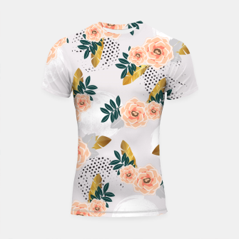Thumbnail image of Floral pattern of roses Shortsleeve Rashguard, Live Heroes