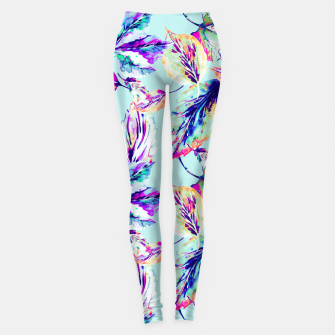 Abstract painting of leaves Leggings imagen en miniatura