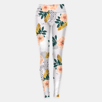 Thumbnail image of Floral pattern of roses Leggings, Live Heroes