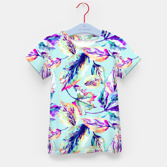 Abstract painting of leaves Camiseta para niños imagen en miniatura