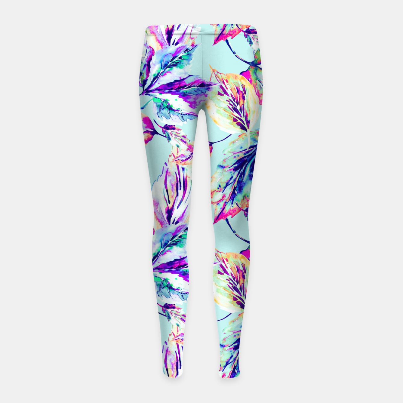 Imagen de Abstract painting of leaves Leggings para niña - Live Heroes