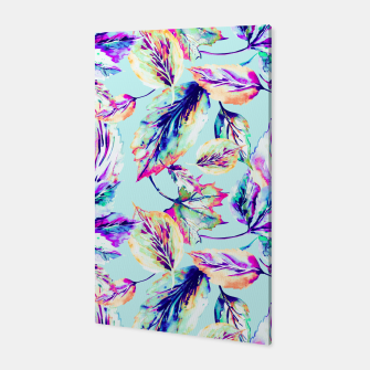 Abstract painting of leaves Canvas imagen en miniatura