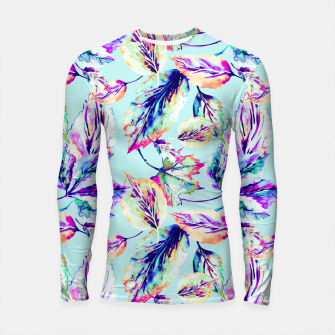 Abstract painting of leaves Longsleeve Rashguard imagen en miniatura