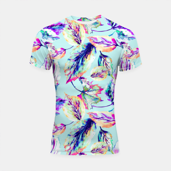 Abstract painting of leaves Shortsleeve Rashguard imagen en miniatura