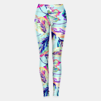 Thumbnail image of Abstract painting of leaves Leggings, Live Heroes