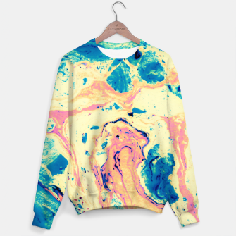Miniatur Colorful marbled paper II Sudadera, Live Heroes