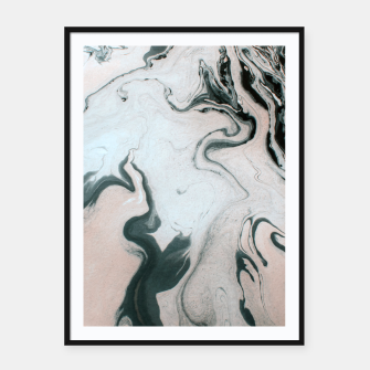 Abstract marble effect painting Cartel con marco Bild der Miniatur