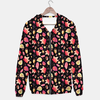Thumbnail image of Watercolor Autumn Pattern Hoodie, Live Heroes