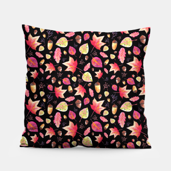 Thumbnail image of Watercolor Autumn Pattern Pillow, Live Heroes