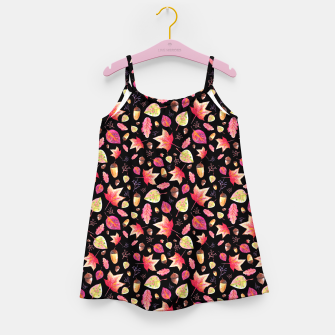 Thumbnail image of Watercolor Autumn Pattern Girl's Dress, Live Heroes