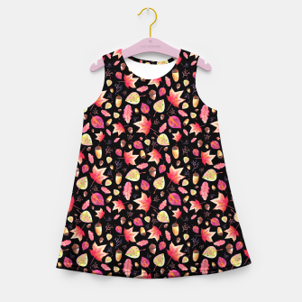 Thumbnail image of Watercolor Autumn Pattern Girl's Summer Dress, Live Heroes