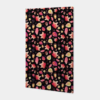 Thumbnail image of Watercolor Autumn Pattern Canvas, Live Heroes