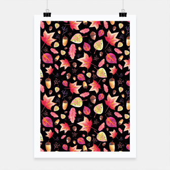 Thumbnail image of Watercolor Autumn Pattern Poster, Live Heroes