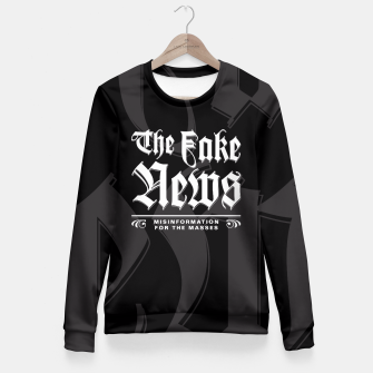 Thumbnail image of The Fake News Header Fitted Waist Sweater, Live Heroes