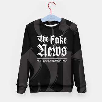 Thumbnail image of The Fake News Header Kid's Sweater, Live Heroes