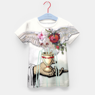 Thumbnail image of ACE OF CUPS TAROT CARD Kid's T-shirt, Live Heroes