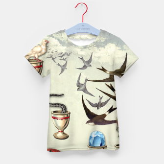 Thumbnail image of SEVEN OF CUPS TAROT CARD  Kid's T-shirt, Live Heroes