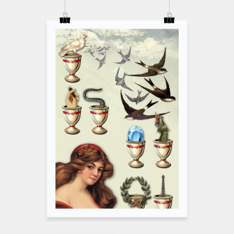 Thumbnail image of SEVEN OF CUPS TAROT CARD  Poster, Live Heroes