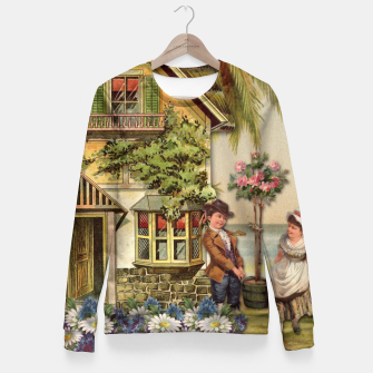 Thumbnail image of SIX OF CUPS TAROT CARD  Fitted Waist Sweater, Live Heroes