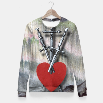 Thumbnail image of TREE OF SWORDS Fitted Waist Sweater, Live Heroes