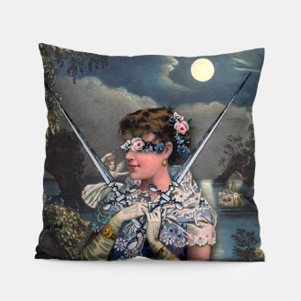 Thumbnail image of TWO OF SWORDS TAROT CARD  Pillow, Live Heroes