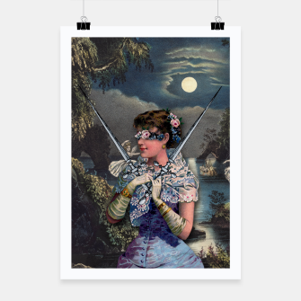 Thumbnail image of TWO OF SWORDS TAROT CARD  Poster, Live Heroes