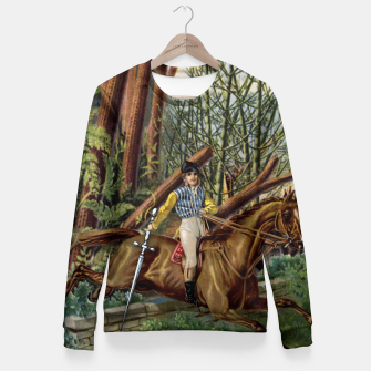 Miniature de image de KNIGHT OF SWORDS TAROT CARD  Fitted Waist Sweater, Live Heroes