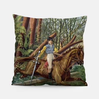 Thumbnail image of KNIGHT OF SWORDS TAROT CARD  Pillow, Live Heroes