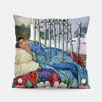 Thumbnail image of TEN OF SWORDS TAROT CARD Pillow, Live Heroes