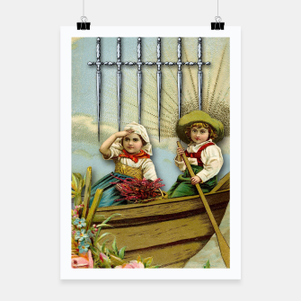 Miniature de image de SIX OF SWORDS TAROT CARD  Poster, Live Heroes