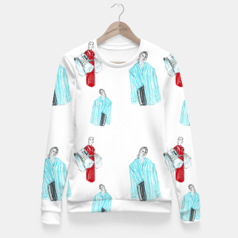Thumbnail image of Vetements__Fashion Illustration Fitted Waist Sweater, Live Heroes
