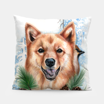 Thumbnail image of Merry Spitz Pillow, Live Heroes