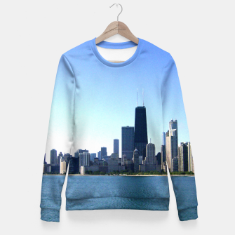 Thumbnail image of Chicago Skyline Fitted Waist Sweater, Live Heroes