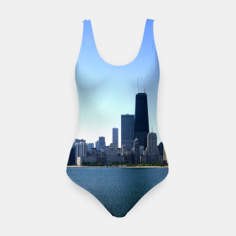 Thumbnail image of Chicago Skyline One Piece Swimsuit, Live Heroes