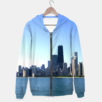 Thumbnail image of Chicago Skyline Hoodie for Men, Live Heroes