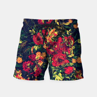 Thumbnail image of Vivid Jungle Swim Shorts, Live Heroes