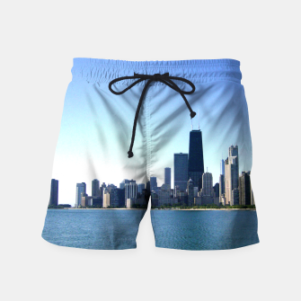 Thumbnail image of Chicago Skyline Shorts for Men, Live Heroes