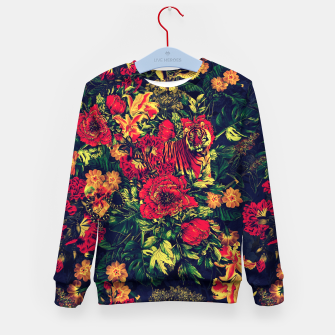 Thumbnail image of Vivid Jungle Kid's Sweater, Live Heroes