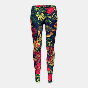Imagen en miniatura de Vivid Jungle Girl's Leggings, Live Heroes