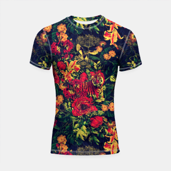 Thumbnail image of Vivid Jungle Shortsleeve Rashguard, Live Heroes