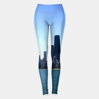 Thumbnail image of Chicago Skyline Sporting Leggings, Live Heroes