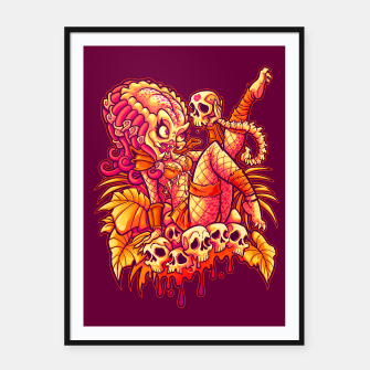 Thumbnail image of PREDATOR PINUP Framed Poster, Live Heroes