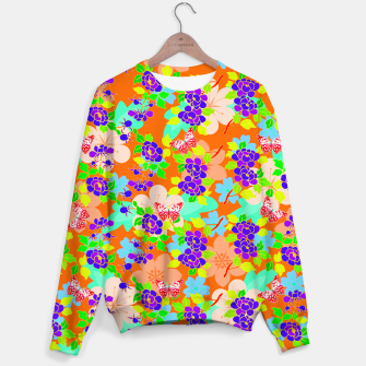 Thumbnail image of Abstract Flowers & Butterflies  Sweater, Live Heroes