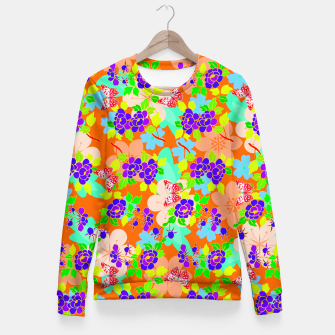 Thumbnail image of Abstract Flowers & Butterflies  Fitted Waist Sweater, Live Heroes