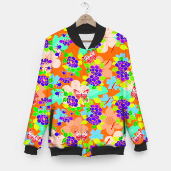 Thumbnail image of Abstract Flowers & Butterflies  Baseball Jacket, Live Heroes
